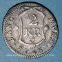Monnaies Palatinat-Soulzbach. Charles Théodore (1742-1799). 2 kreuzer 1745