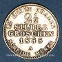 Monnaies Prusse. Frédéric Guillaume IV (1840-1861). 2 1/2 silbergroschen 1855A