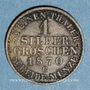 Monnaies Prusse. Guillaume I (1861-1888). 1 silbergroschen 1870C