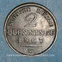 Monnaies Prusse. Guillaume I (1861-1888). 2 pfennig 1867 C