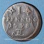 Monnaies Rostock. Ville. 1 pfennig 1798 FL
