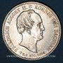 Monnaies Saxe. Frédéric Auguste II (1836-1854). 1/3 taler 1854. Commémoration de la mort du roi