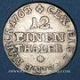 Monnaies Saxe. Frédéric Christian (octobre - décembre 1763). 1/12 taler 1763 FWoF
