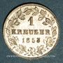 Monnaies Wurtemberg. Guillaume I (1816-1864). 1 kreuzer 1853
