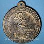 Monnaies Alsace. 20e circuit du Kochersberg. Les randonneurs de Strasbourg. 1987. Médaille bronze. 50 mm