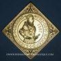 Monnaies Alsace. 4e centenaire de l'atelier de Woerth. 1987. Médaille bronze doré. 46,15 x 46,15 mm