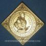 Monnaies Alsace. 4e centenaire de l'atelier de Woerth. 1987. Médaille bronze doré. 46,30 x 46,30 mm