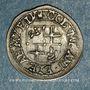 Monnaies Alsace. Abbaye de Murbach et Lure. Colomban d'Andlau (1663-64). 1/2 batz 1663. Guebwiller