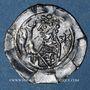 Monnaies Alsace. Abbaye de Seltz. Denier (vers 1190-1220)