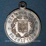 Monnaies Alsace. Barr. Olympia Barr. 1896. Médaille laiton argenté, avec œillet