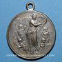 Monnaies Alsace. Bitschwiller-les-Thann. Chorale. Bénédiction du drapeau. 1901. Médaille laiton argenté