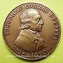 Monnaies Alsace. Colmar. 250e anniversaire de la naissance de Th. Conrad Pfeffel. 1986. Médaille bronze 50 mm