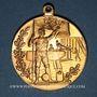 Monnaies Alsace. Colmar. 2e tournoi de gymnastique du Haut-Rhin. 1905. Médaille bronze doré
