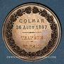 Monnaies Alsace. Colmar. Concours agricole régional – Animaux de basse-cour. 1867. Médaille cuivre. 51,68 mm