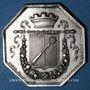 Monnaies Alsace. Colmar. Conseil Municipal de 1821. Jeton octogonal en argent, gravé par Oblin F