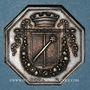 Monnaies Alsace. Colmar. Conseil Municipal de 1821. Jeton octogonal en argent. Var. signature à l'exergue