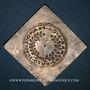 Monnaies Alsace. Colmar. Prix d'école. 1717. Argent, carrée, uniface. 36,24 x 36,78 mm