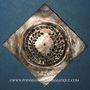 Monnaies Alsace. Colmar. Prix d'école. 1723. Argent, carrée, uniface. 43,64 x 43,18 mm
