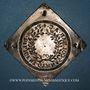 Monnaies Alsace. Colmar. Prix d'école. 1744. Argent, carrée, uniface. 42,68 x 43,18 mm