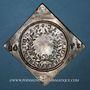 Monnaies Alsace. Colmar. Prix d'école. 1768. Argent, carrée, uniface. 42,68 x 43,18 mm.