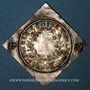 Monnaies Alsace. Colmar. Prix d'école. 1791. Argent, carrée, uniface. 33,52 x 34,09 mm