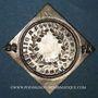 Monnaies Alsace. Colmar. Prix d'école. 1792. Argent, carrée, uniface. 32,78 x 33,47 mm