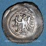 Monnaies Alsace. Evêché de Strasbourg. Epoque des Hohenstaufen (1138-1284). Denier. Offenbourg vers 1247-1273