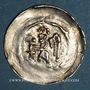 Monnaies Alsace. Evêché de Strasbourg. Epoque des Hohenstaufen (1138-1284). Denier vers 1190-1220
