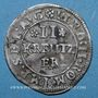 Monnaies Alsace. Evêché de Strasbourg. Léopold Guillaume (1625-1662). 2 kreuzers. Molsheim (1627-1630)