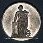 Monnaies Alsace. Festival de Mulhouse. 8e réunion des chanteurs d'Alsace. 1870. Médaille en étain. 28 mm