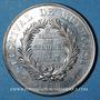 Monnaies Alsace. Festival de Mulhouse. 8e réunion des chanteurs d'Alsace. 1870. Médaille en étain. 42 mm
