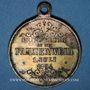 Monnaies Alsace. Kingersheim. Chorale Caecilia - Consécration du drapeau. 1894. Médaille bronze argenté