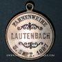 Monnaies Alsace. Lautenbach. Association Ste Cécile - Bénédiction du drapeau. 1897. Médaille laiton argenté