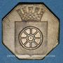 Monnaies Alsace. Molsheim. 1ère Foire. 1852. Jeton laiton octogonal. 28,6 X 28,8 mm