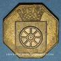 Monnaies Alsace. Molsheim. 1ère Foire. 1852. Jeton laiton octogonal. 28,7 mm.