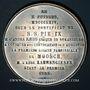 Monnaies Alsace. Moosch. Consécration de l'église St Augustin. 1864. Médaille étain. 51 mm