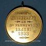 Monnaies Alsace. Morschwiller le Bas. Chorale Ste Caecilia Consécration drapeau. 1893. Médaille bronze doré