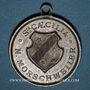 Monnaies Alsace. Morschwiller le Bas. Chorale Ste Caecilia Consécration drapeau. 1893. Médaille étain