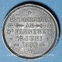 Monnaies Alsace. Morschwiller le Bas. Chorale Ste Caecilia. Consécration drapeau. 1893. Médaille plomb. 28 mm