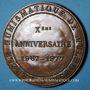 Monnaies Alsace. Mulhouse. 10e anniversaire du Cercle Numismatique de Mulhouse 1967-1977. Médaille en bronze