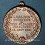 Monnaies Alsace. Mulhouse. 1er tournoi de gymnastique du Haut-Rhin.  1901. Médaille bronze