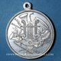 Monnaies Alsace. Mulhouse. 2e concours des sociétés de musique d'Alsace-Lorraine. 1907. Médaille en aluminium