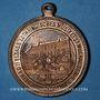 Monnaies Alsace. Mulhouse. 2e concours des sociétés de musique d'Alsace-Lorraine. 1907. Médaille en cuivre