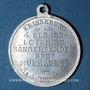 Monnaies Alsace. Mulhouse. 4e festival des chorales d'Alsace-Lorraine. 1900. Médaille en aluminium. 29 mm
