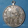 Monnaies Alsace. Mulhouse. 4e festival des chorales d'Alsace-Lorraine. 1900. Médaille en bronze argenté 28 mm