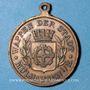 Monnaies Alsace. Mulhouse. 4e festival des chorales d'Alsace-Lorraine. 1900. Médaille en cuivre. 28 mm