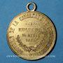 Monnaies Alsace. Mulhouse. Cavalcade de bienfaisance. 1884. Médaille en laiton. 28 mm