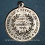 Monnaies Alsace. Mulhouse. Cavalcade de bienfaisance. Hiver rigoureux, 1879-1880. Médaille zinc. 32,12 mm