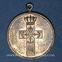Monnaies Alsace. Mulhouse. Cercle catholique St. Fridolin. Bénédiction du drapeau. 1912. Médaille cuivre doré