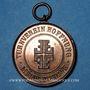 Monnaies Alsace. Mulhouse. Cercle de gymnastique  Hoffnung (Espoir), (1897). Médaille en cuivre. 28,8 mm